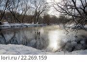 Купить «Река Кончура в Московской области в марте», фото № 22269159, снято 19 марта 2016 г. (c) Валерий Боярский / Фотобанк Лори