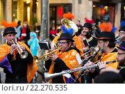 Купить «Musicians at Spanish Carnaval at Barcelona», фото № 22270535, снято 4 февраля 2016 г. (c) Яков Филимонов / Фотобанк Лори
