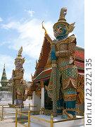 Купить «Таиланд. Бангкок. Королевский дворец.», фото № 22272135, снято 11 августа 2015 г. (c) Евгений Тиняков / Фотобанк Лори