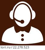 Купить «Call Center Woman Icon», фото № 22278523, снято 19 сентября 2018 г. (c) easy Fotostock / Фотобанк Лори
