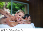 Купить «Woman receiving back massage from masseur», фото № 22320679, снято 28 ноября 2015 г. (c) Wavebreak Media / Фотобанк Лори