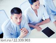 Купить «serious businessman on meeting in office», фото № 22339903, снято 9 июня 2013 г. (c) Syda Productions / Фотобанк Лори