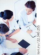 Купить «business team having discussion in office», фото № 22340255, снято 9 июня 2013 г. (c) Syda Productions / Фотобанк Лори