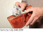 Кошелек и деньги в руках. Стоковое фото, фотограф Яна Королёва / Фотобанк Лори