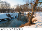 Купить «Река Торгоша в Московской области в марте», фото № 22356963, снято 26 марта 2016 г. (c) Валерий Боярский / Фотобанк Лори