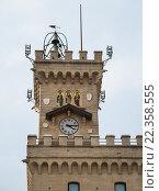 Часы на башне в Италии. Стоковое фото, фотограф Иманова Ирина / Фотобанк Лори