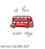 Купить «Векторный рисунок двухэтажного автобуса», иллюстрация № 22361527 (c) Алексей Плескач / Фотобанк Лори