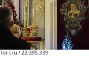 Купить «Служба в соборе святого Георгия во Львове», видеоролик № 22395339, снято 6 февраля 2016 г. (c) Валерий Гусак / Фотобанк Лори