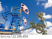 Купить «Добыча нефти. Газопровод», фото № 22396859, снято 26 июня 2010 г. (c) Георгий Shpade / Фотобанк Лори