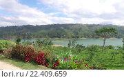 Купить «view to lake or river from land hills», видеоролик № 22409659, снято 17 февраля 2016 г. (c) Syda Productions / Фотобанк Лори