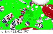 Купить «Voting pin dropping on the floor», видеоролик № 22426167, снято 23 июля 2019 г. (c) Wavebreak Media / Фотобанк Лори
