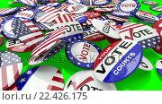 Купить «Voting pins dropping on the floor», видеоролик № 22426175, снято 23 июля 2019 г. (c) Wavebreak Media / Фотобанк Лори