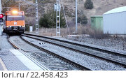 Купить «Rodalies tren in motion», видеоролик № 22458423, снято 2 февраля 2016 г. (c) Яков Филимонов / Фотобанк Лори