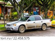 Купить «Subaru Baja», фото № 22458575, снято 20 ноября 2015 г. (c) Art Konovalov / Фотобанк Лори