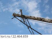 Такелаж старого судна на фоне неба. Стоковое фото, фотограф Максим Высоких / Фотобанк Лори