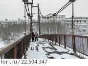 Купить «Мост с Воркуты до поселка Рудник», фото № 22504347, снято 26 января 2015 г. (c) Михаил Трибой / Фотобанк Лори