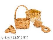 Купить «Сувениры из бересты», фото № 22515811, снято 7 апреля 2016 г. (c) Наталья Осипова / Фотобанк Лори