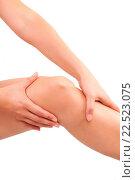 Купить «Female knee isolated on white.», фото № 22523075, снято 8 июля 2020 г. (c) easy Fotostock / Фотобанк Лори