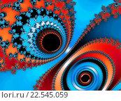 Купить «Фрактальный фон в красно - синих тонах», иллюстрация № 22545059 (c) Astronira / Фотобанк Лори