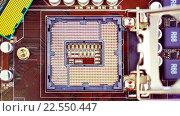 Купить «Современный процессор на материнской плате», видеоролик № 22550447, снято 17 апреля 2015 г. (c) Андрей Армягов / Фотобанк Лори