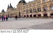Купить «Москва, Красная площадь», эксклюзивный видеоролик № 22551627, снято 11 апреля 2016 г. (c) Alexei Tavix / Фотобанк Лори