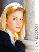 Pretty young woman portrait backlit. Стоковое фото, фотограф Emil Pozar / age Fotostock / Фотобанк Лори