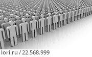 Купить «Символы людей выстроены в строй», иллюстрация № 22568999 (c) WalDeMarus / Фотобанк Лори