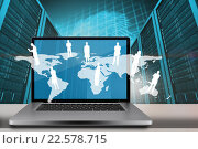 Composite image of a large screen of a computer. Стоковое фото, агентство Wavebreak Media / Фотобанк Лори