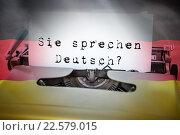 Composite image of sie sprechen deutsch. Стоковое фото, агентство Wavebreak Media / Фотобанк Лори