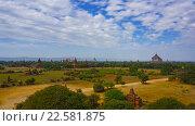 Купить «Панорама с храмами Багана, Бирма, таймлапс», видеоролик № 22581875, снято 9 апреля 2016 г. (c) Михаил Коханчиков / Фотобанк Лори
