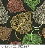 Листья тополя, фон. Стоковая иллюстрация, иллюстратор Шильникова Дарья / Фотобанк Лори