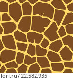 Бесшовные фон со шкурой жирафа. Стоковая иллюстрация, иллюстратор Шильникова Дарья / Фотобанк Лори