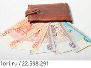 Купить «Деньги в кошельке», эксклюзивное фото № 22598291, снято 15 апреля 2016 г. (c) Яна Королёва / Фотобанк Лори