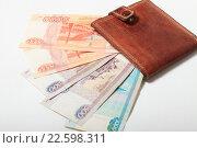 Купить «Деньги в кошельке», эксклюзивное фото № 22598311, снято 15 апреля 2016 г. (c) Яна Королёва / Фотобанк Лори