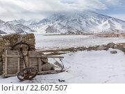 Купить «Гора Мустаг-ата и озеро Кара-Куль в высокогорье Памира, Синьцзян-Уйгурский автономный район, Китай», фото № 22607507, снято 20 марта 2016 г. (c) Николай Винокуров / Фотобанк Лори