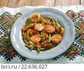 paprikash with green beans. Стоковое фото, фотограф Александр Fanfo / Фотобанк Лори