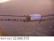 СКАЙПАРК Эй Джей Хаккетт Сочи - парк приключений на высоте от основателя банджи-джампинга, Сочи, Краснодарский Край . AJ Hackett Sochi Skypark has the world's highest Swing, world's longest suspended pedestrian walkway, Russia's highest Bungy and 2 giant flying foxs, Sochi, Krasnodarskiy region. (2015 год). Редакционное фото, фотограф Марина Коробкова / Фотобанк Лори