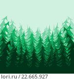 Лесной фон. Стоковая иллюстрация, иллюстратор Евгения Миллер / Фотобанк Лори