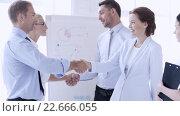 Купить «business people shaking their hands», видеоролик № 22666055, снято 16 марта 2016 г. (c) Syda Productions / Фотобанк Лори