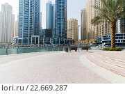 Dubai city business district and seafront. Стоковое фото, фотограф Syda Productions / Фотобанк Лори