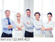 Купить «happy business team in office», фото № 22669423, снято 9 июня 2013 г. (c) Syda Productions / Фотобанк Лори