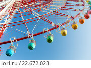 Купить «Ferris wheel with blue sky», фото № 22672023, снято 20 октября 2018 г. (c) PantherMedia / Фотобанк Лори
