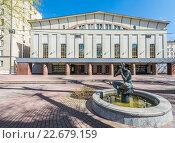 Купить «Здание театра имени Моссовета в Москве», фото № 22679159, снято 24 апреля 2016 г. (c) Николай Сачков / Фотобанк Лори