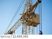 Кабина строительного крана. Стоковое фото, фотограф Dmytro Kohut / Фотобанк Лори
