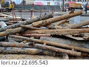 Груда ржавых труб на улице. Стоковое фото, фотограф Наталья Уварова / Фотобанк Лори