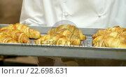 Купить «Cook gourmet is cooking croissants », видеоролик № 22698631, снято 6 августа 2020 г. (c) Wavebreak Media / Фотобанк Лори