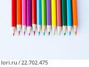 Купить «close up of crayons or color pencils», фото № 22702475, снято 17 марта 2016 г. (c) Syda Productions / Фотобанк Лори