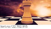 Купить «Composite image of white rook on chess board», фото № 22702915, снято 18 ноября 2018 г. (c) Wavebreak Media / Фотобанк Лори