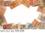 Рама из советских бумажных денег. Стоковое фото, фотограф Чебеляев Геннадий / Фотобанк Лори