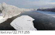 Купить «Река Камчатка зимой», видеоролик № 22717255, снято 17 июля 2019 г. (c) А. А. Пирагис / Фотобанк Лори